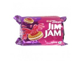 BRITANNIA TREAT JIM JAM CHOCALATE CREAM BISCUIT 150GM