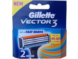 GILLETTE VECTOR3 RAZOR BLADE CARTRIDGES 2S