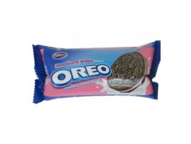 CADBURY OREO STRAWBERRY CREAM BISCUIT 150GM