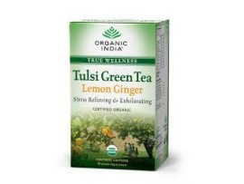 ORGANIC TULSI GREEN TEA LEMON GINGER 18TEABAGS