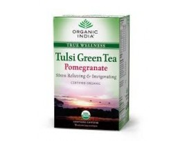 ORGANIC TULSI GREEN TEA POMOGRANATE 18TEABAGS