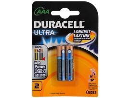 DURACELL BATTARES ALKALINE ULTRA AAA PACK OF 2