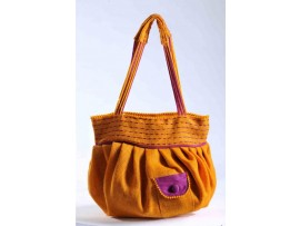DESIGNER LADIES HANDBAG FB-51 (YELLOW)