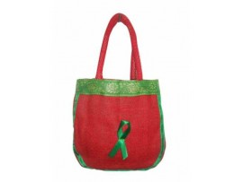 DESIGNER LADIES TOTES HONEYBEE (RED & GREEN)