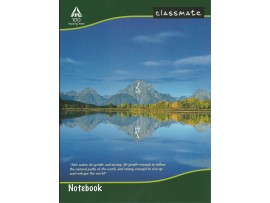 "ITC CLASSMATE SQUARE 1"" NOTE BOOK SOFT BIND CROWN SIZE 120 PAGES"