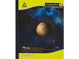 ITC CLASSMATE UNRULED MATHS NOTE BOOK HARD BIND 190 X 155 SIZE  172 PAGES