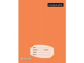 ITC CLASSMATE UNRULED NOTE BOOK HARD BIND SCHOOL SIZE 92 PAGES