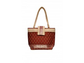 DESIGNER LADIES TOTES WITH FLAP COVER LB-108 (RED)
