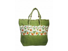 FLORAL DESIGN LADIES HANDBAG SB-51 (GREEN)