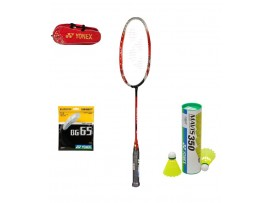 YONEX MUSCLE POWER 22 BADMINTON RACKETS PLUS WITH KIT BAG