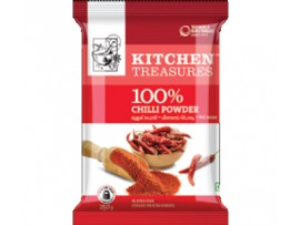 KITCHEN TREASURE CHILLI POWDER 250GM