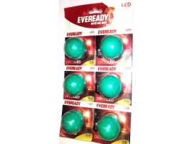 Eveready 0.5 W LED Bulb(Green, Pack of 6)