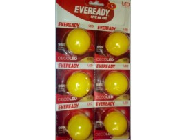 Eveready 0.5 W LED Bulb(Yellow, Pack of 6)