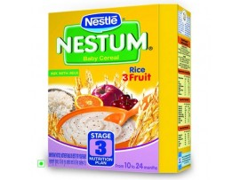 Nestle Nestum - Rice 3 Fruit (Stage 3), 300 gm Carton