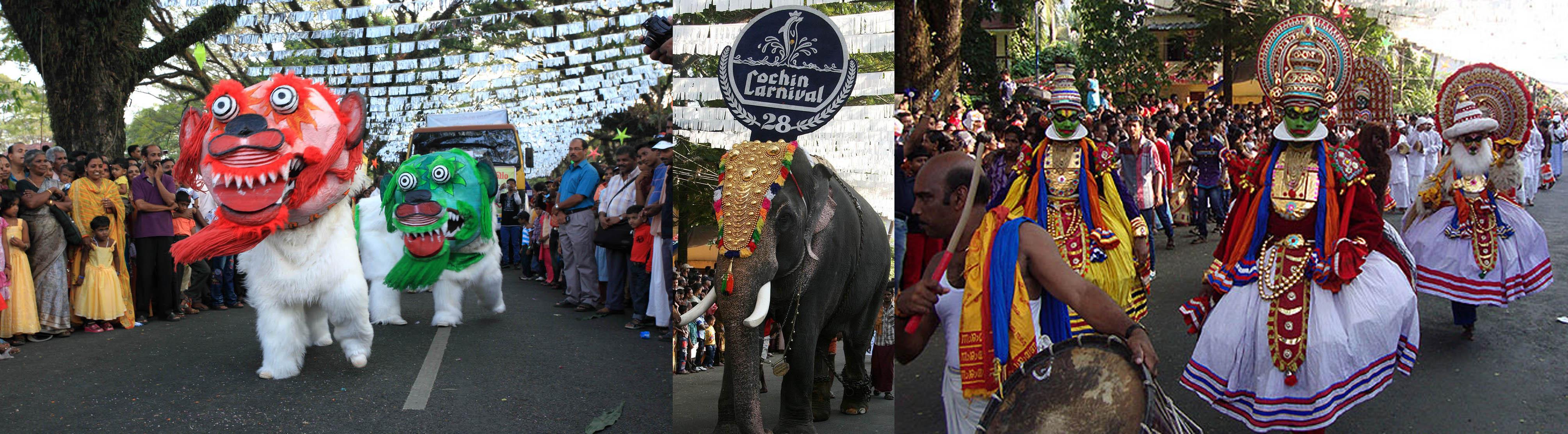 cochin carnival procession