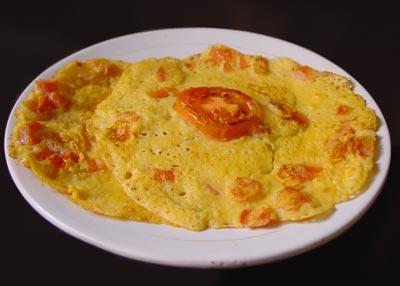 Eggless Tomato Omlete