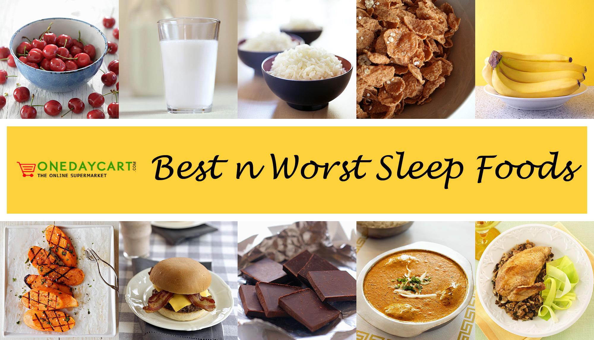 best n worst sleep food