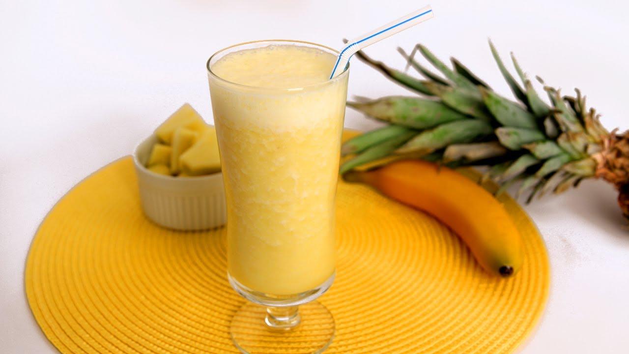 banana & pineapple smoothie